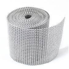 silver rhinestone ribbon wrap bulk 30 wedding
