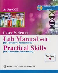core science lab manual with practical skills for class 9 with cd