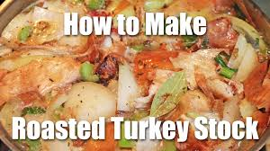 how to make thanksgiving turkey gravy turkey stock recipe step one to awesome gravy youtube