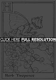 coloring pages print letter h for herb twopence flower fairy