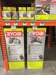 chamberlain garage door opener home depot black friday ryobi ultra quiet 2 hp garage door opener 198 plus 1 free