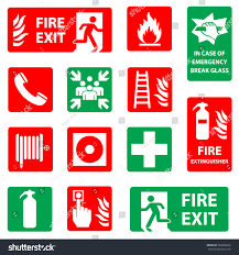 fire safety icon set fire danger stock vector 500296636 shutterstock