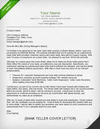 Emailing Resume For Job by Bank Teller Cover Letter Sample Resume Genius