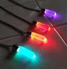 led light up pendant necklace eternity led glow