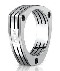 mens wedding bands titanium men s benchmark titanium wedding ring with triangle design