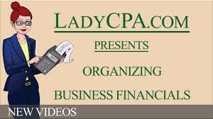 organizing business financials youtube