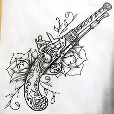 guns and roses shaded by onfire4him deviantart com on deviantart