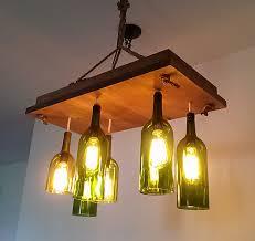 wine bottle chandelier ideas home tweaks