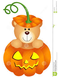 halloween teddy bear pumpkin scalable vectorial image representing isolated white 34657687 jpg
