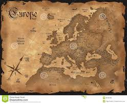 Old Map Of Europe vintage europe map horizontal royalty free stock image image