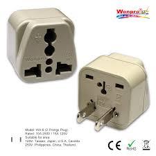 travel plug adapter images Wonpro universal travel plug adapter us japan philippines jpg