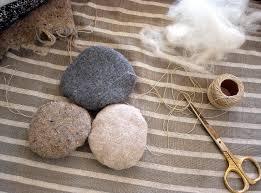 Pebble Rugs Woman With Wings Wool Stone Rug