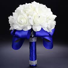 wedding flowers royal blue royal blue purple fuchsia artificial bridal