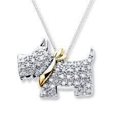 gold dog pendant necklace images Kay scottie dog necklace 1 6 ct tw diamond sterling silver 10k gold jpg