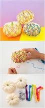 no carve pumpkin string art with kids make pumpkin art with this