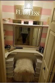 Built In Vanity Dressing Table Best 25 Closet Vanity Ideas On Pinterest Vanity In Closet