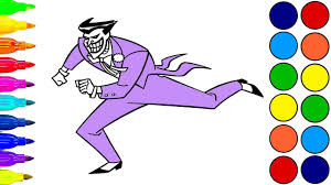 how to draw the joker coloring pages the joker art colors for