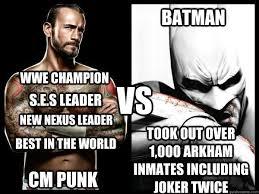 Cm Punk Memes - cm punk vs batman memes quickmeme