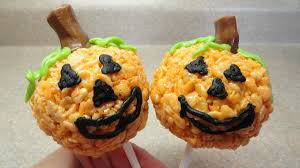 jack o u0027 lantern rice krispies pops youtube