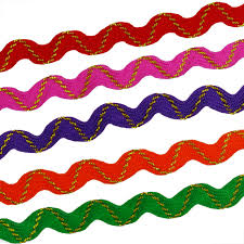 ric rac ribbon ric rac ribbon 5 colors 8mm 3 8 terylene zig zag trimming