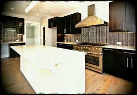 tile or cabinets first white and espresso kitchen glass tile back splash large gas range