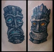 tiki comedy and tragedy masks inner vision tattoo