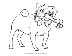 printable pug coloring page the inky octopus