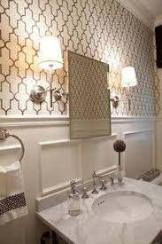 powder rooms with wallpaper a pretty posh powder room powder room moldings and small spaces