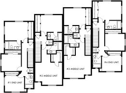 three plex floor plans upper floor plan 2 for heavy timber craftsman townhouse plans 4