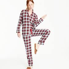 flannel pajama set in tartan plaid pajamas j crew