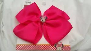primark hair accessories primark disney minnie mouse pink large hairbow bnwt hair