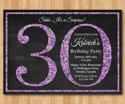 20 interesting 30th birthday invitations themes u2013 wording samples