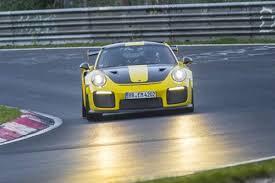 nurburgring record broken by rwd porsche 911 gt2 rs shocks