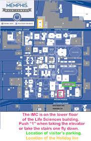 Map Of U Integrated Microscopy Center Location Imc University Of Memphis