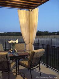 Outdoor Canvas Curtains Our Home Away From Home No Sew Canvas Drop Cloth Outdoor Curtains