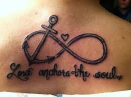 anchor love you more tattoo to infinity beyond infinity love