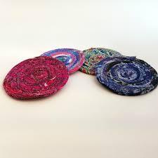 fabric coasters handmade unique green eco friendly handmade