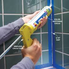 tips for caulking bathroom tiling and house