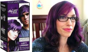 top over the counter hair color splat hair dye review and demo lusty lavendar youtube