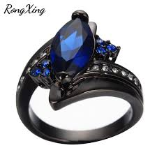 engagement rings with blue stones aliexpress buy marquise cut blue ring charming