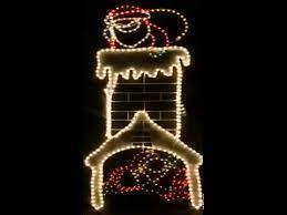 santa chimney lights