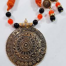stone set necklace images Beautiful rice pearl stone necklace set navodyami jpg