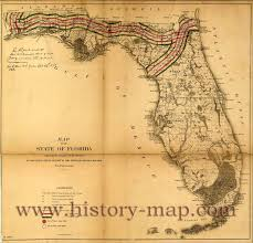 Flordia Map Of Florida In1850 U0027s