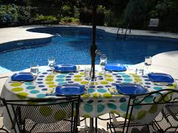 Tablecloth For Umbrella Patio Table Outdoor Tablecloths With Umbrella And Zipper Http