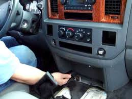 06 08 dodge ram radio removal in less than 2 min youtube