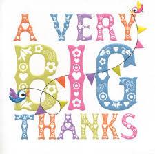 Happy Birthday Thank You Quotes Thank You Card Big Thanks Happy Happy Birthday Baby