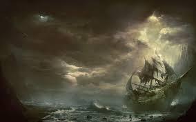download wallpaper 3840x2400 mountains clouds sea ship