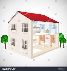 building flat 3d web isometric concept stock vector 260457152