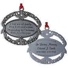 merry christmas from heaven custom engraved merry christmas from heaven ornament