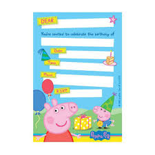 space themed writing paper invitations party big w peppa pig invitations